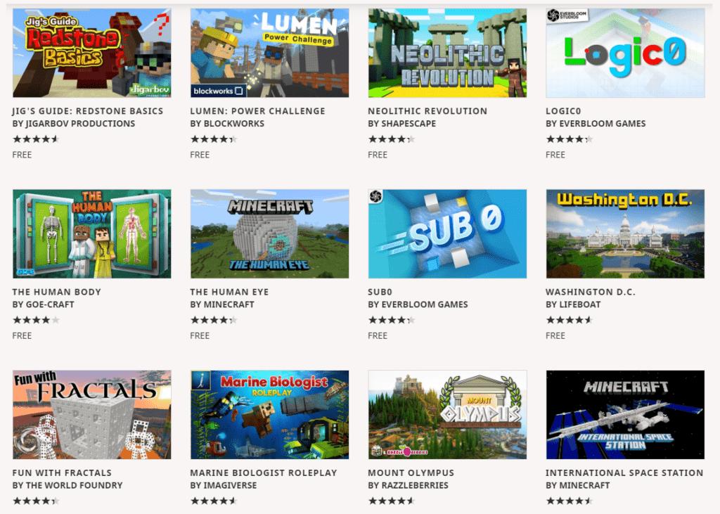 Minecraft - vzdělávací obsah zdarma